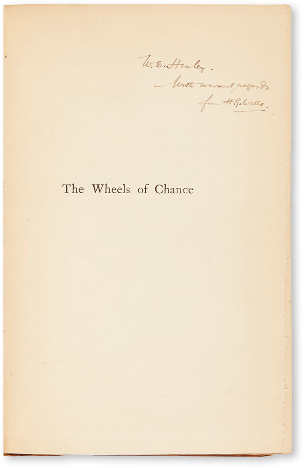 WELLS, H.G. Group of 3 Signed First Editions.