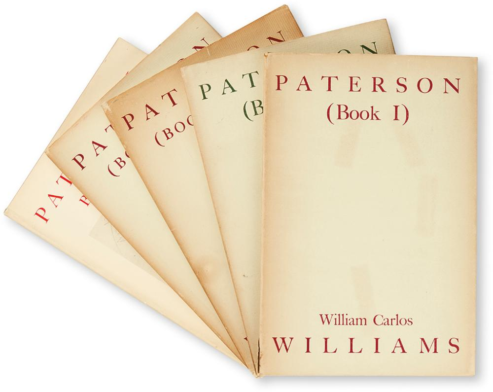 WILLIAMS, WILLIAM CARLOS. Paterson (Books One to Five).