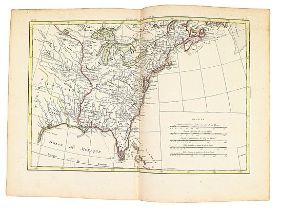 BONNE, RIGOBERT. Atlas Moderne ou Collection de Cartes sur toutes les parties du Globe Terrestre.