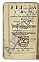BIBLE. POLYGLOT. Biblia Hebraica + Bibliorum pars Graecae + Novum Testamentum. 1610-15. 8 vols. in 4, the first sgd by Increase Mather.