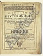 BIBLE IN ENGLISH.  Ainsworth, Henry. Annotations upon the Fifth Book of Moses, called Deuteronomie [with the full Bible text].  1619
