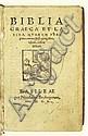 BIBLE IN GREEK AND LATIN.  Biblia Graeca et Latina.  Vol. 1 (of 4):  Pentateuch-Ruth.  1550
