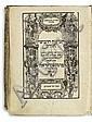 BIBLE IN HEBREW   Hamisha Humshei Torah [Megillot, Nevi'im Rishonim, Nevi'im Aharonim, Sefer Ketuvim].  4 parts in one vol.  1595