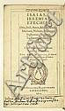 BIBLE IN HEBREW AND LATIN.  Nevi'im Aharonim. Isaias, Ieremias, Ezechiel [et al.] . . . Hebraice.  1610