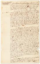 (AMERICAN REVOLUTION.) TRUMBULL, JONATHAN. Autograph Document Signed,