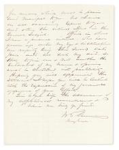 (CIVIL WAR.) SHERMAN, WILLIAM TECUMSEH. Autograph Letter Signed,