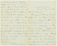 SHERMAN, WILLIAM TECUMSEH. Autograph Letter Signed,