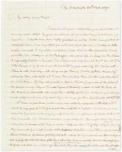 THORNTON, WILLIAM. Autograph Letter Signed, to William P. Elliott (