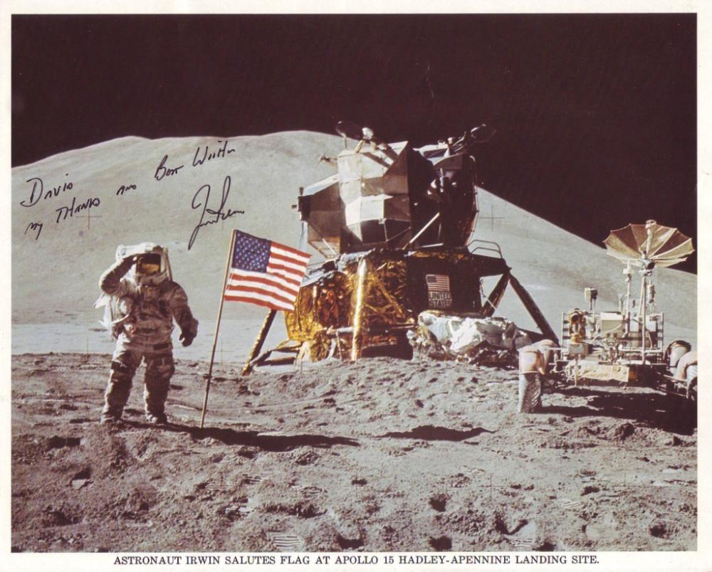 (ASTRONAUTS.) IRWIN, JAMES B. Photograph Signed and Inscribed,