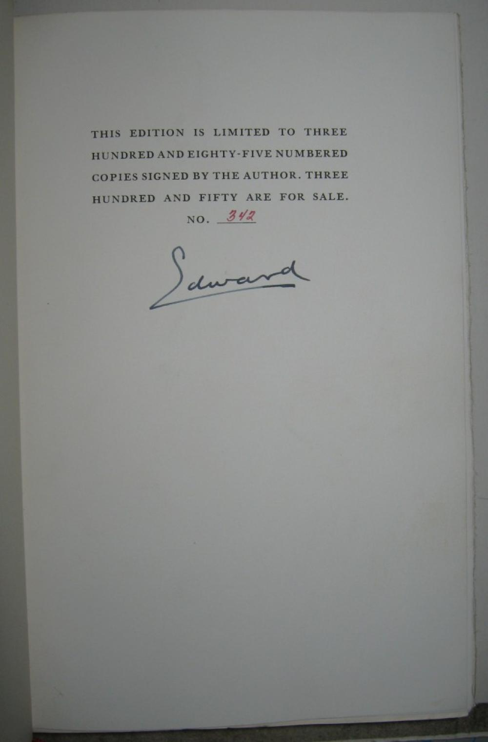 WINDSOR, EDWARD; DUKE OF. A King's Story. Signed,