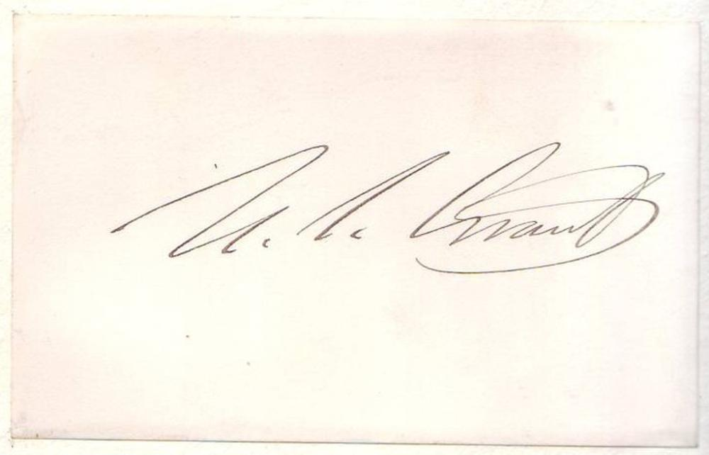 GRANT, ULYSSES S. Signature,