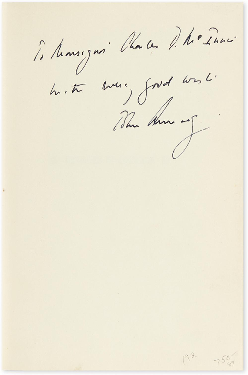 KENNEDY, JOHN F. Profiles in Courage. Signed and Inscribed,