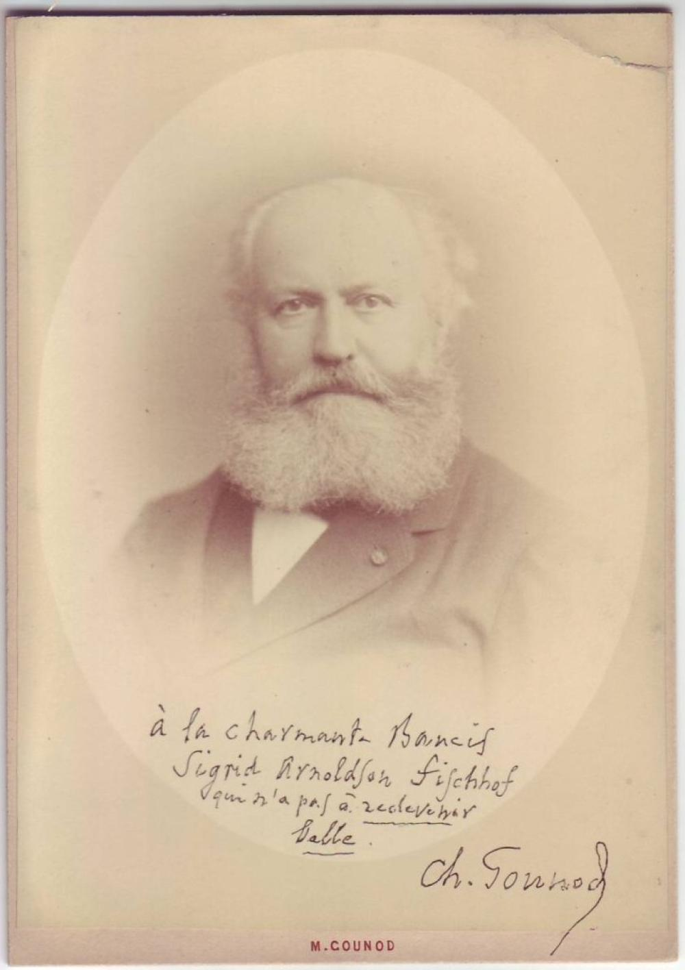 GOUNOD, CHARLES. Photograph Signed and Inscribed: