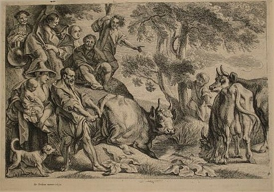 JACOB JORDAENS Cacus Robbing the Cattle of Hercules