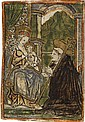 NETHERLANDISH SCHOOL, 15TH-CENTURY St. Bernard Adoring the Virgin and Child.