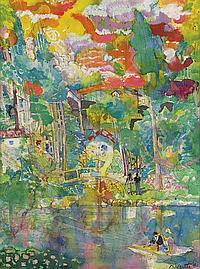 LOUIS DELSARTE (1944 - ) Untitled (Fairyland Landscape).