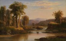 ROBERT S. DUNCANSON (1821 - 1872) Untitled (River Landscape).