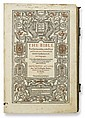 BIBLE IN ENGLISH.  The Bible. Translated according to the Ebrew and Greeke.  Part 1 (of 3) only:  Genesis-Prophets.  1583
