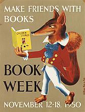 (CHILDREN'S LITERATURE - POSTERS.) Children's Book Week, November.