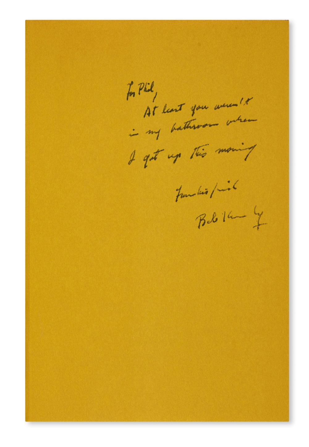 "KENNEDY, ROBERT F. The Pursuit of Justice. Inscribed and Signed, ""Bob Kennedy,"" on the front free endpaper:"