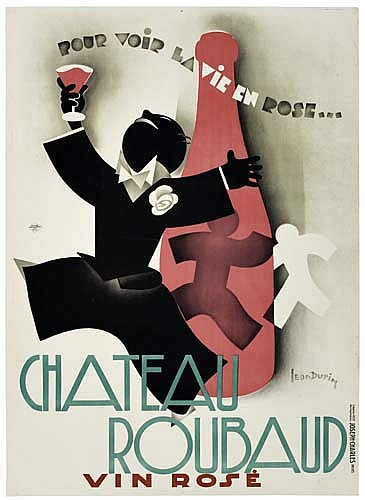 POSTER: LEON DUPIN CHATEAU ROUBAUD. 1931. 55