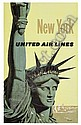 POSTER: STAN GALLI NEW YORK / UNITED AIRLINES, Stanley Walter Galli, Click for value