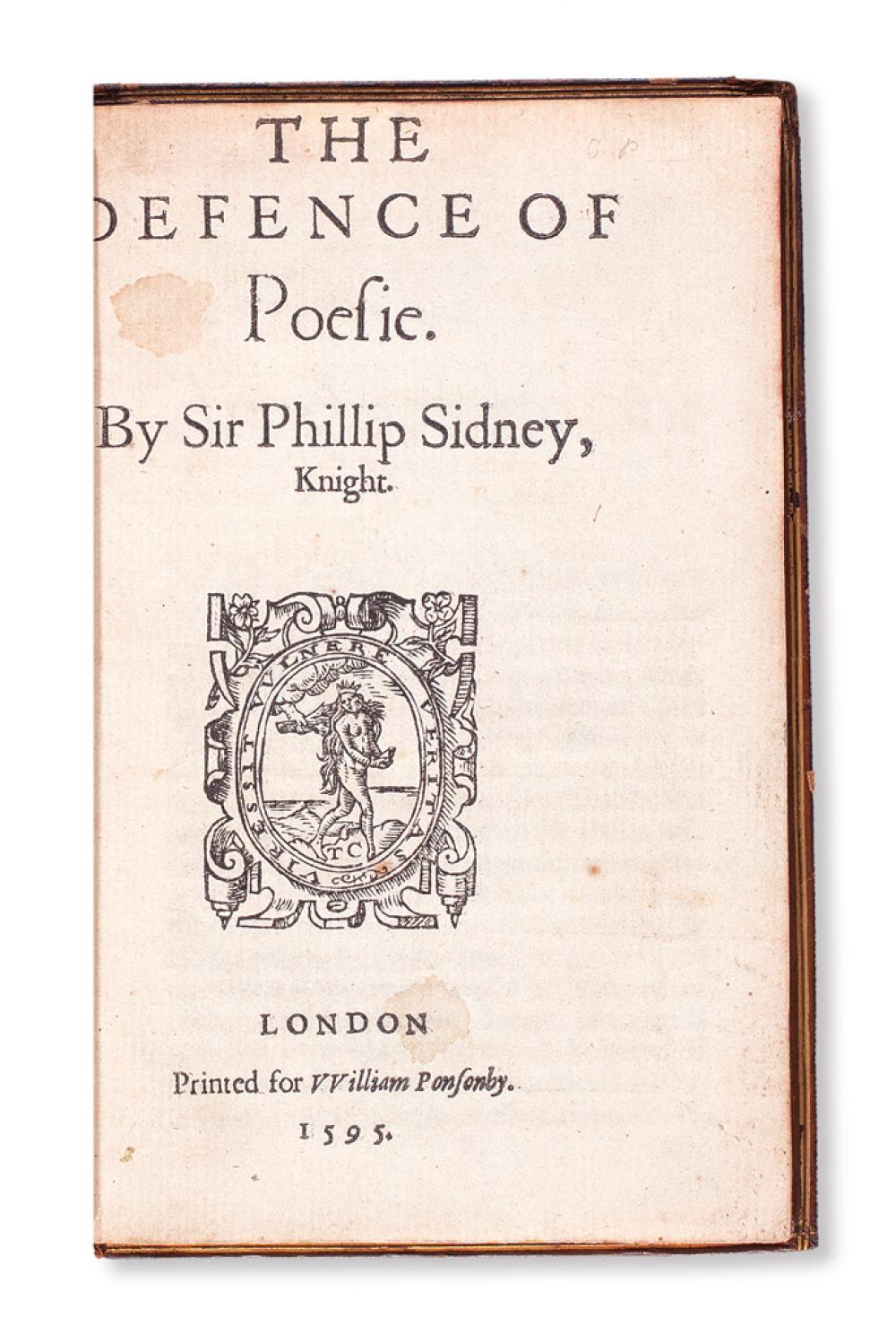 the defence of poesy When the right virtuous edward wotton and i were at the emperor's 1 court together, we gave ourselves to learn horsemanship of john pietro pugliano, one that with.