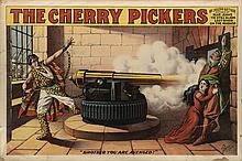 DESIGNER UNKNOWN. THE CHERRY PICKERS. 1896. 28x42 inches, 72x106 cm. The Enquirer Job Printing Co., Cincinnati.