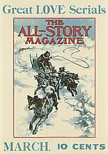 VARIOUS ARTISTS. THE ALL - STORY MAGAZINE. Two posters. Each approximately 18x13 inches, 45x33 cm.