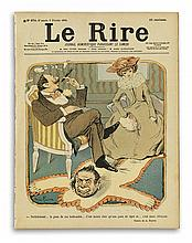 VARIOUS ARTISTS. [LE RIRE.] Group of 18 issues and 4 single illustrations. 1895-1902. Each approximately 12x9 inches, 30x24 cm.