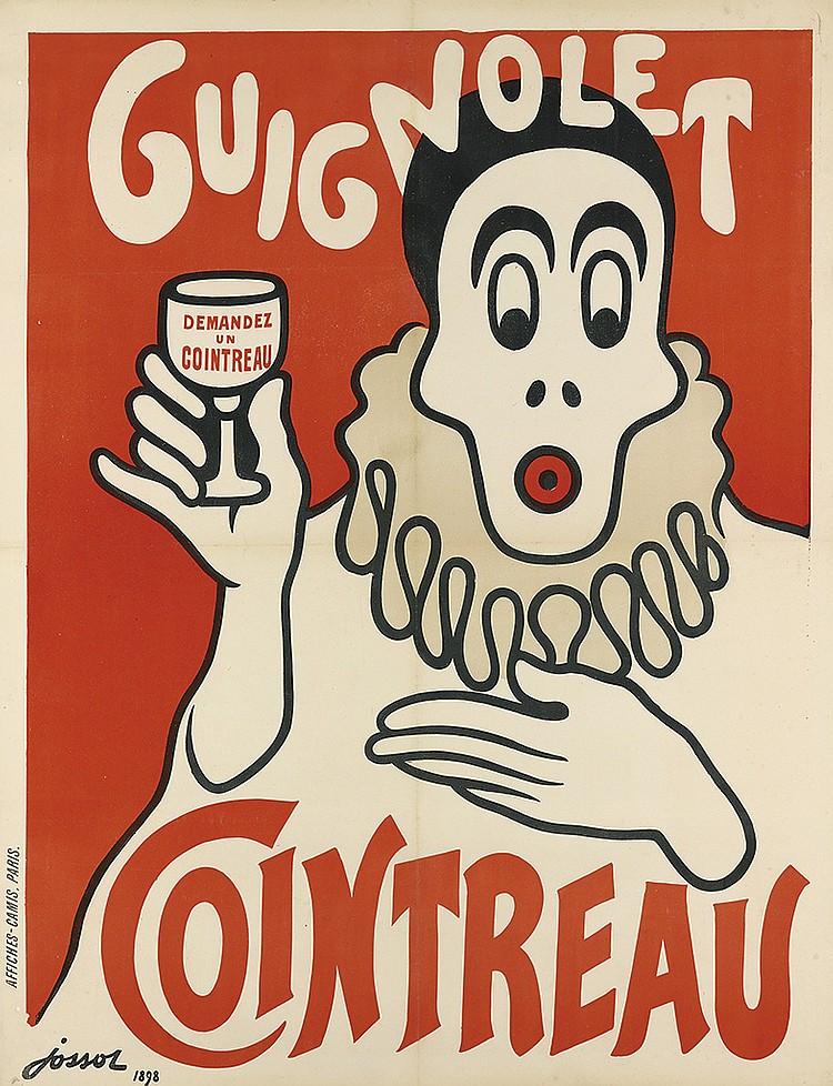 GUSTAVE-HENRI JOSSOT (1886-1951). COINTREAU / GUIGNOLET. 1898. 51x39 inches, 130x99 cm. Camis, Paris.