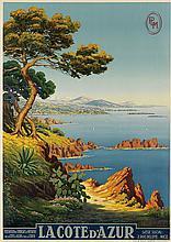 ADELIN CHARLES MOREL DE TANGUY (1857-1930). LA COTE D'AZUR. Circa 1920. 40x28 inches, 103x73 cm. Adia, Nice.