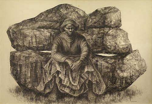 CHARLES WHITE (1918 - 1979) General Moses (Harriet Tubman).