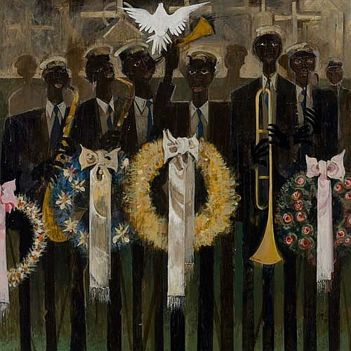 WILLIAM E. PAJAUD (1925 -   ) My Father's Funeral.