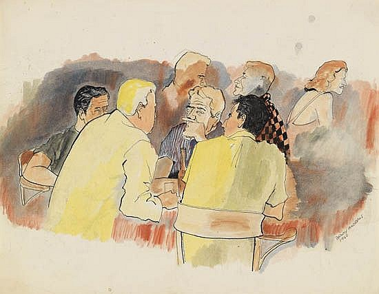 BENNY ANDREWS (1930 - 2006) The Club.