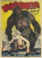 DESIGNER UNKNOWN. NABONGA (GORILLE). Circa 1944. 61x44 inches, 156x113 cm. P.I.L.E., Paris.