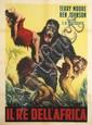 DESIGNER UNKNOWN. IL RE DELL'AFRICA. 1961. 55x39 inches, 139x99 cm. Rotolito.