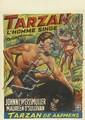 DESIGNER UNKNOWN. TARZAN / L'HOMME SINGE. 1932. 20x14 inches, 51x35 cm. L.&H. Verstegen, Brussels.
