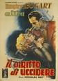 ANSELMO BALLESTER (1897-1974). IL DIRITTO DI UCCIDERE. 1951. 54x38 inches, 138x98 cm. N. Moneta, Milan.