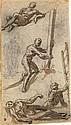 DOMENICO TINTORETTO (ATTRIBUTED TO) (Venice 1560-1635 Venice) Studies of Figures (Calvary).