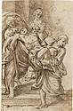GIACOMO CAVEDONE (CIRCLE OF) (Sassuolo 1577-1660 Bologna) The Deposition.