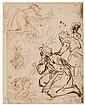 ITALIAN SCHOOL, LATE 16TH/EARLY 17TH-CENTURY Sheet of Figure Studies.