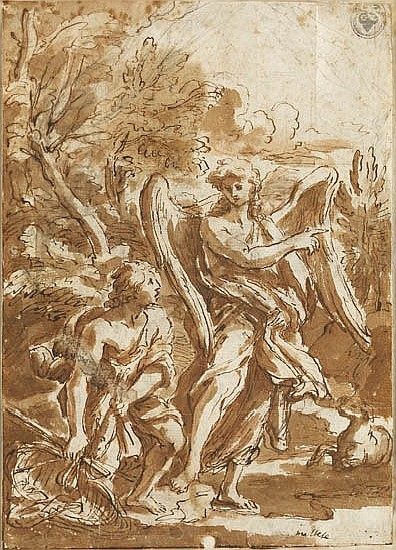 MELCHIORE CAFFA, IL MALTESE (Vittoriosa 1630-1680 Rome) Tobias and the Angel.