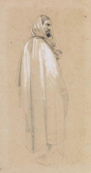 PAUL DELAROCHE (Paris 1797-1856 Paris) Study of an Arab.