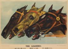 DESIGNER UNKNOWN. THE LEADERS. 1888. 22x29 inches, 56x73 cm. Currier & Ives, New York.