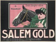 DESIGNER UNKNOWN. SALEM GOLD CIGARETTE. Circa 1910. 36x47 inches, 91x125 cm
