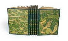 VARIOUS ARTISTS. LES MAÎTRES DE L''AFFICHE. Group of 5, complete, bound volumes. 1896-1900. Each volume approximately 15x12x inches, 39