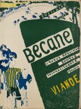 ÉDOUARD VUILLARD (1868-1940). BECANE / VIANDE. Circa 1894. 31x23 inches, 80x59 cm. Edw. Ancourt, Paris.
