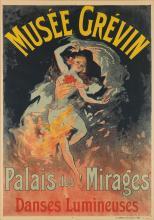 JULES CHÉRET (1836-1932). MUSÉE GRÉVIN / PALAIS DES MIRAGES. 1911. 47x33 inches, 121x84 cm. Chaix, Paris.
