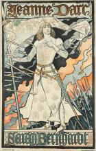 EUGÈNE GRASSET (1845-1917). JEANNE D''ARC / SARAH BERNHARDT. 1894. 45x29 inches, 115x73 cm. Draeger & Lesieur, Paris.